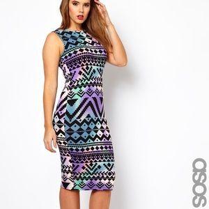 ASOS Aztec Print Body Con Dress